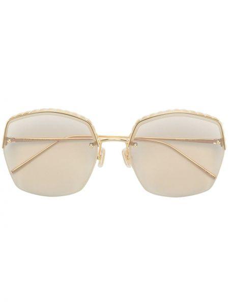 Желтые солнцезащитные очки квадратные металлические Boucheron Eyewear