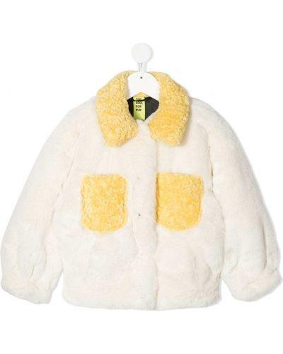 Прямая с рукавами длинная шуба из искусственного меха Too Cool For Fur Kids