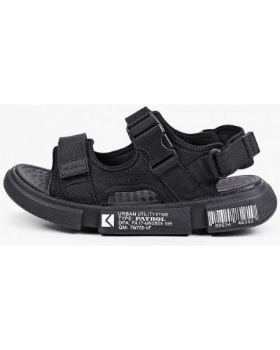 Текстильные черные сандалии Patrol