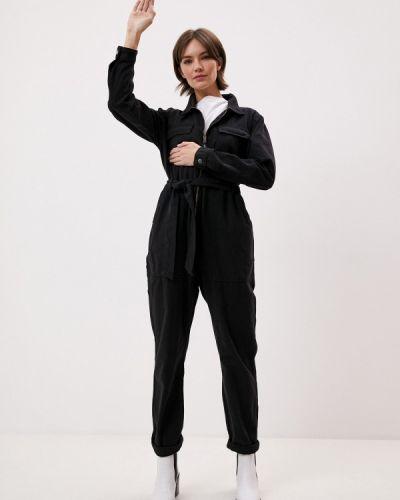 Черный джинсовый комбинезон One Teaspoon