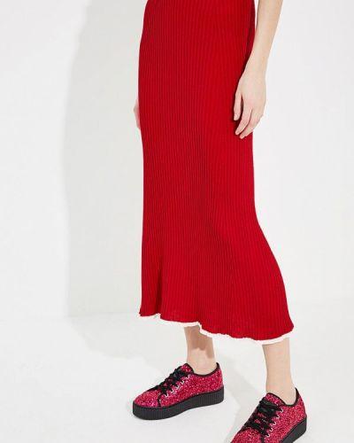 Юбка карандаш итальянский красный Sonia Rykiel