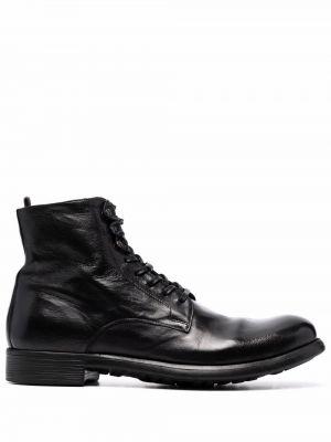 Черные резиновые ботинки Officine Creative