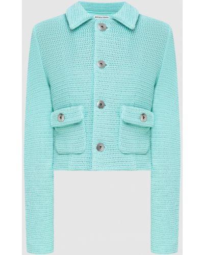 Бирюзовый пиджак Bottega Veneta
