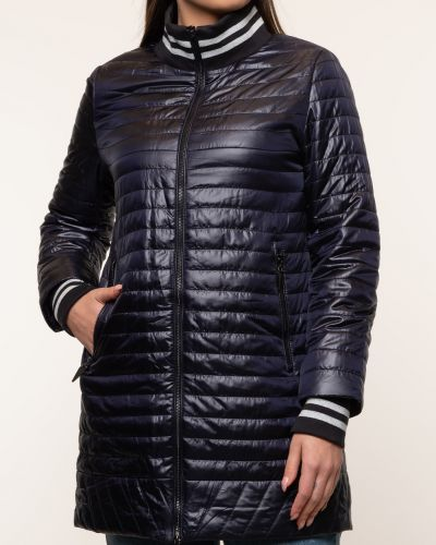 Утепленная синяя куртка с воротником Alyaska