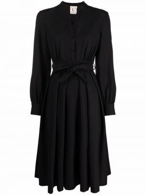 Шерстяное платье макси - черное Lautre Chose