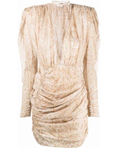Biała sukienka z dekoltem w serek Magda Butrym
