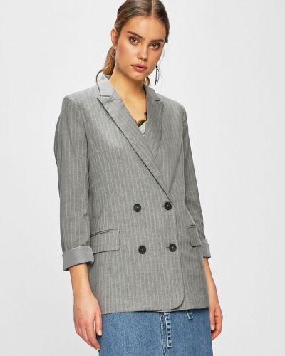 Классический пиджак свободный серый Only