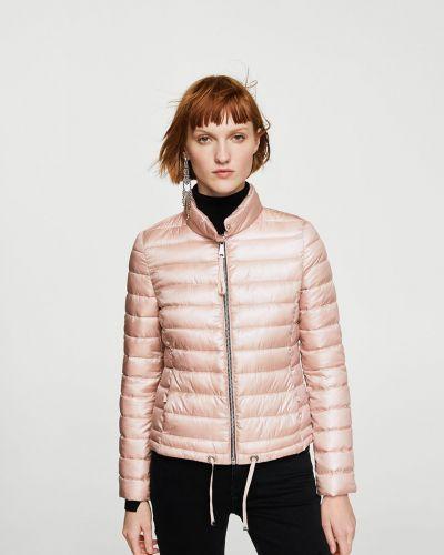 Стеганая куртка утепленная розовая Mango