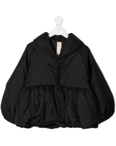 Czarna długa kurtka z raglanowymi rękawami Little Creative Factory Kids