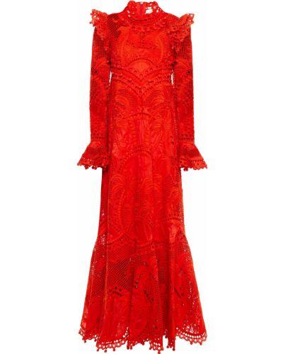 Платье макси из органзы Zimmermann