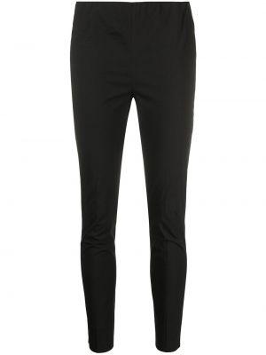 Хлопковые черные брюки узкого кроя Antonelli
