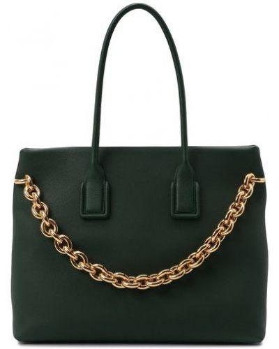 Зеленая сумка на цепочке Bottega Veneta