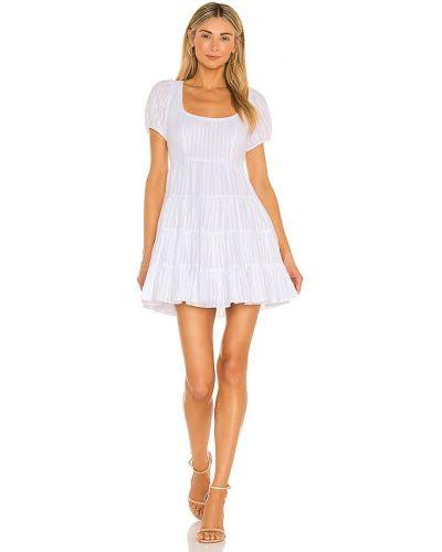 Хлопковое кружевное белое платье мини Likely