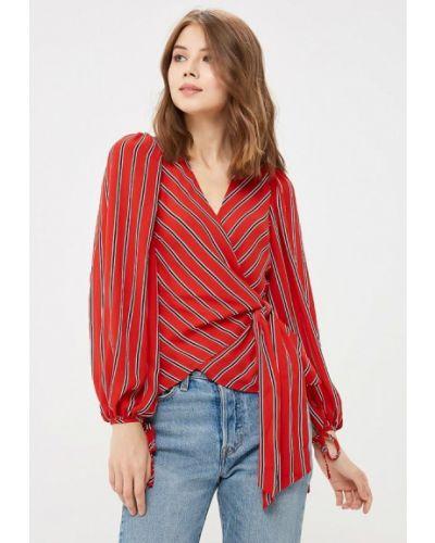 Красная блузка с длинным рукавом Warehouse