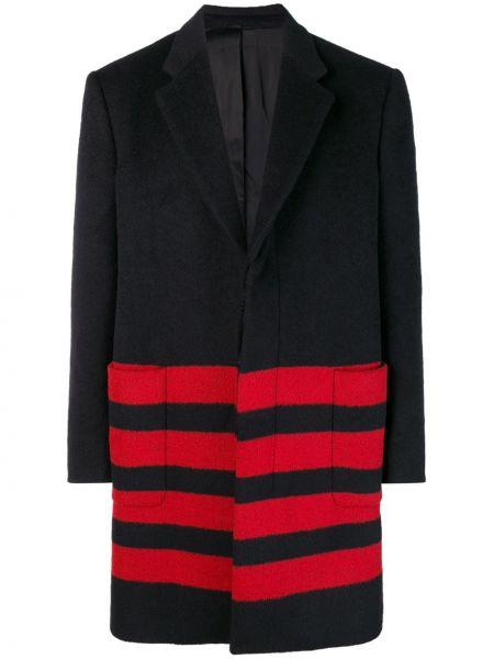 Klasyczny czarny płaszcz wełniany Calvin Klein 205w39nyc