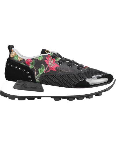 Черные кроссовки замшевые Barracuda