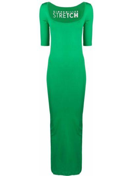 Sukienka długa krótki rękaw - zielona Simon Miller