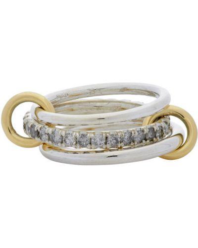 Z rombem srebro pierścień z diamentem Spinelli Kilcollin