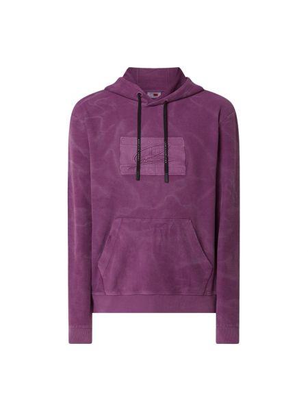 Fioletowa bluza z kapturem bawełniana Tommy Hilfiger