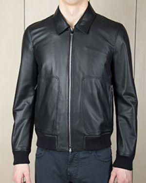 Кожаная куртка черная Corneliani