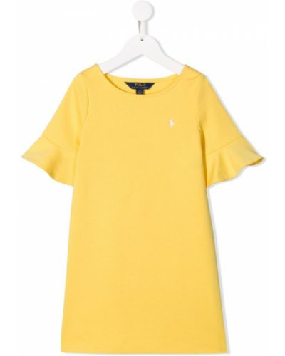Платье с рукавами короткое трикотажное Ralph Lauren Kids