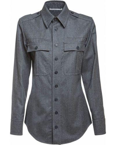 Шерстяная рубашка - серая Stella Mccartney