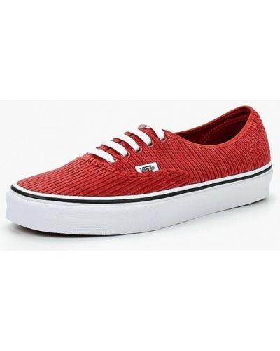 Красные низкие кеды Vans