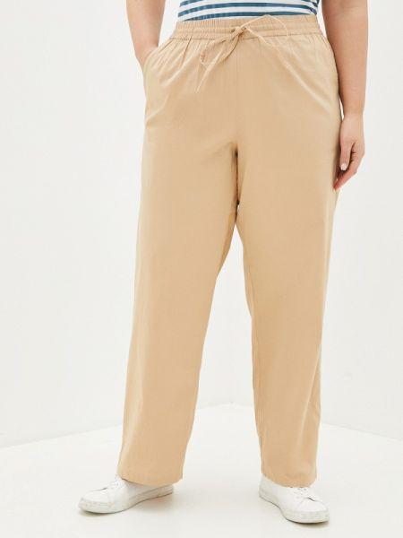 Бежевые брюки с воротником Junarose