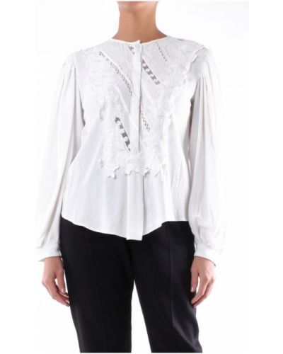 Biała bluzka z dekoltem w serek Isabel Marant