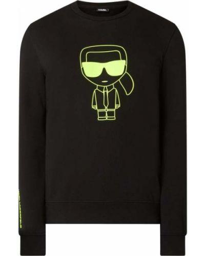 Bawełna czarny bluzka z dekoltem okrągły Karl Lagerfeld