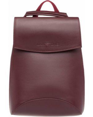 Кожаный рюкзак бордовый маленький Lakestone