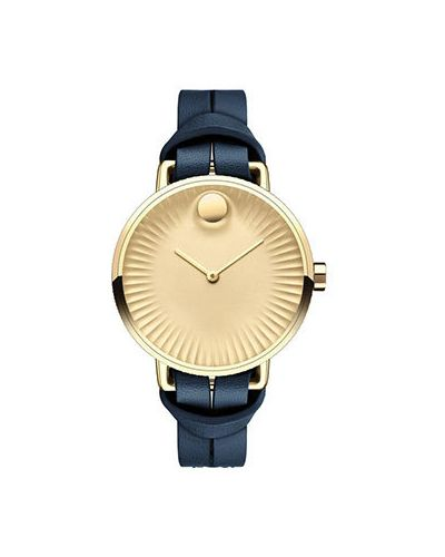 Кварцевые часы швейцарские с круглым циферблатом Movado
