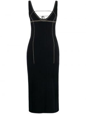 Sukienka z dekoltem w serek - czarna Jacquemus