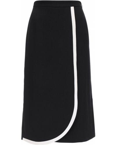 Плиссированная юбка - черная Alessandra Rich