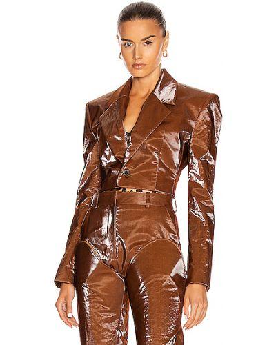 Коричневый пиджак на пуговицах с манжетами Y/project