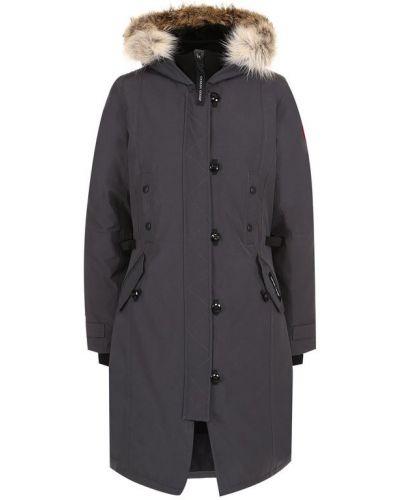 Куртка с капюшоном с мехом приталенная Canada Goose