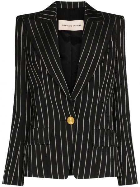 Однобортный черный пиджак с карманами Alexandre Vauthier