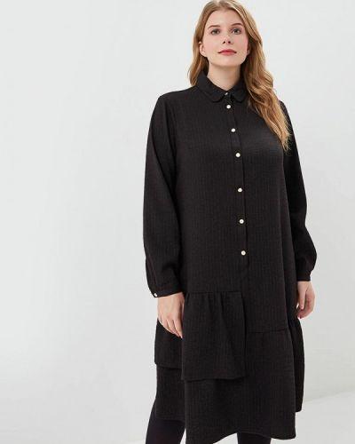 Повседневное платье осеннее черное Berkline