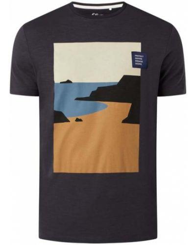 T-shirt z printem - niebieska S.oliver Red Label