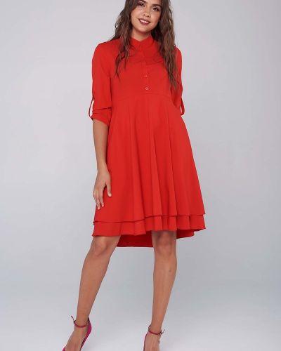 Свободное повседневное с рукавами платье-рубашка Mari-line