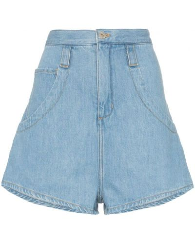 Джинсовые шорты с карманами со стразами на пуговицах Marques'almeida