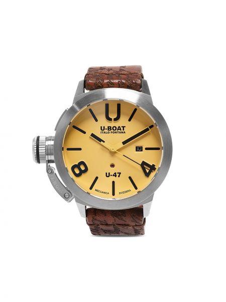 Czarny zegarek na skórzanym pasku skórzany szafir U-boat