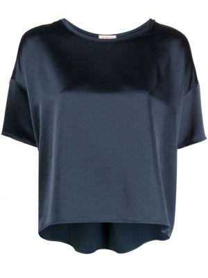 Bluzka krótki rękaw asymetryczna z wiskozy Blanca Vita