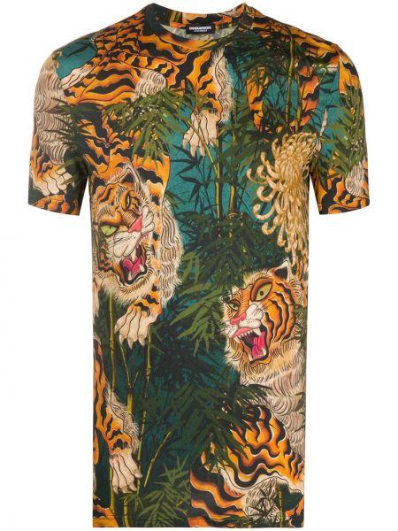 Koszula krótkie z krótkim rękawem prosto wyposażone Dsquared2