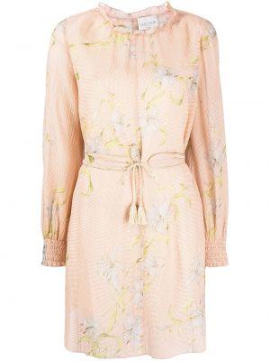Шелковое с рукавами платье с подкладкой Forte Forte