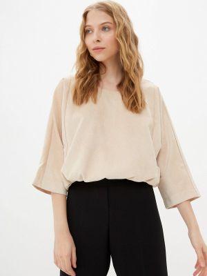 Блузка с короткими рукавами - бежевая Vivostyle