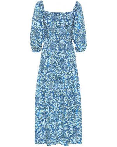 Sukienka midi ciemno niebieska niebieskie Rhode