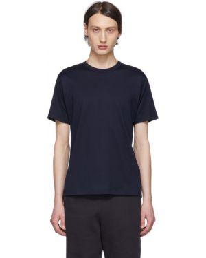 Хлопковая с рукавами рубашка с короткими рукавами с воротником с аппликациями A_plan_application