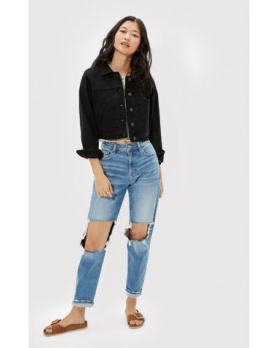 Kurtka jeansowa - czarna American Eagle