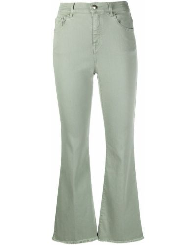 Хлопковые зеленые джинсы на молнии Jacob Cohen